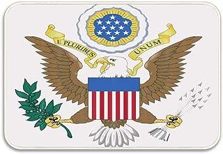 Huayuanhurug Great Seal of The United States Doormat for Bedroom Front Door Non Slip Backing Rectangular Rugs 16x24 inch