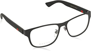 Gucci GG 0013O 001 Black Metal Square Eyeglasses 55mm