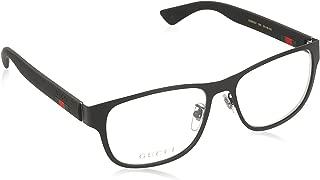 GG 0013O 001 Black Metal Square Eyeglasses 55mm