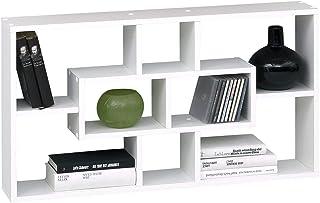 FMD 289-001_we Lasse Etagère Murale avec 8 Compartiments Blanc