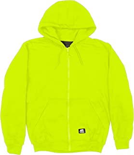 Berne HVF101 Men's Enhanced Visibility Hooded Sweatshirt