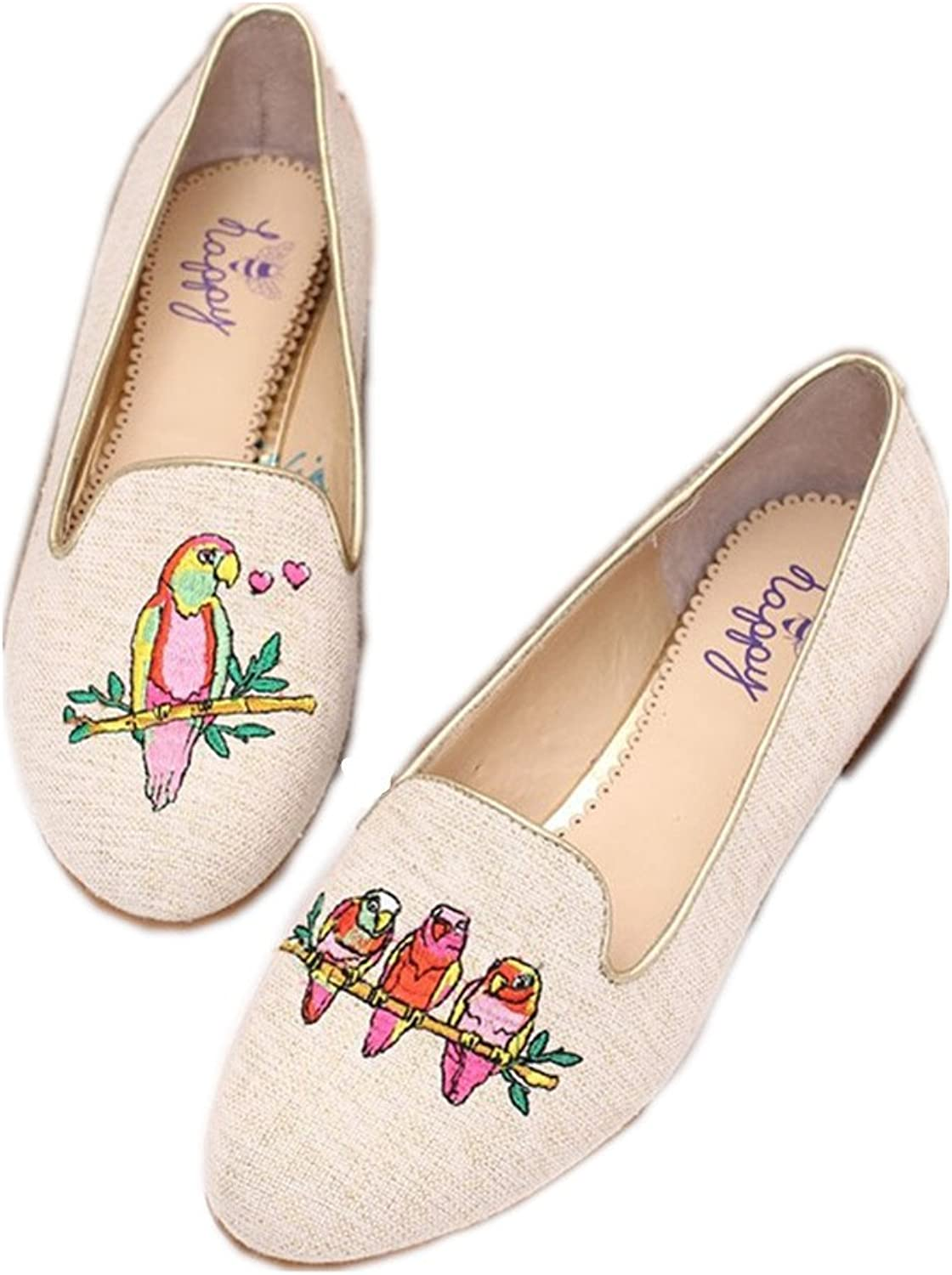 C. Wonder Time Canvas Ladies Slip on Loafers Espadrilles Flats White