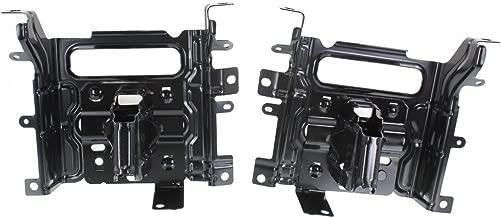 Bumper Bracket Front Steel compatible with Ram 1500 P/U 13-17 Set Of 2 Steel 2 Piece Bumper Type