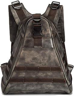 DKee Mochila para hombre al aire libre personalizada, mochila de viaje o ocio al aire libre (color: marrón)