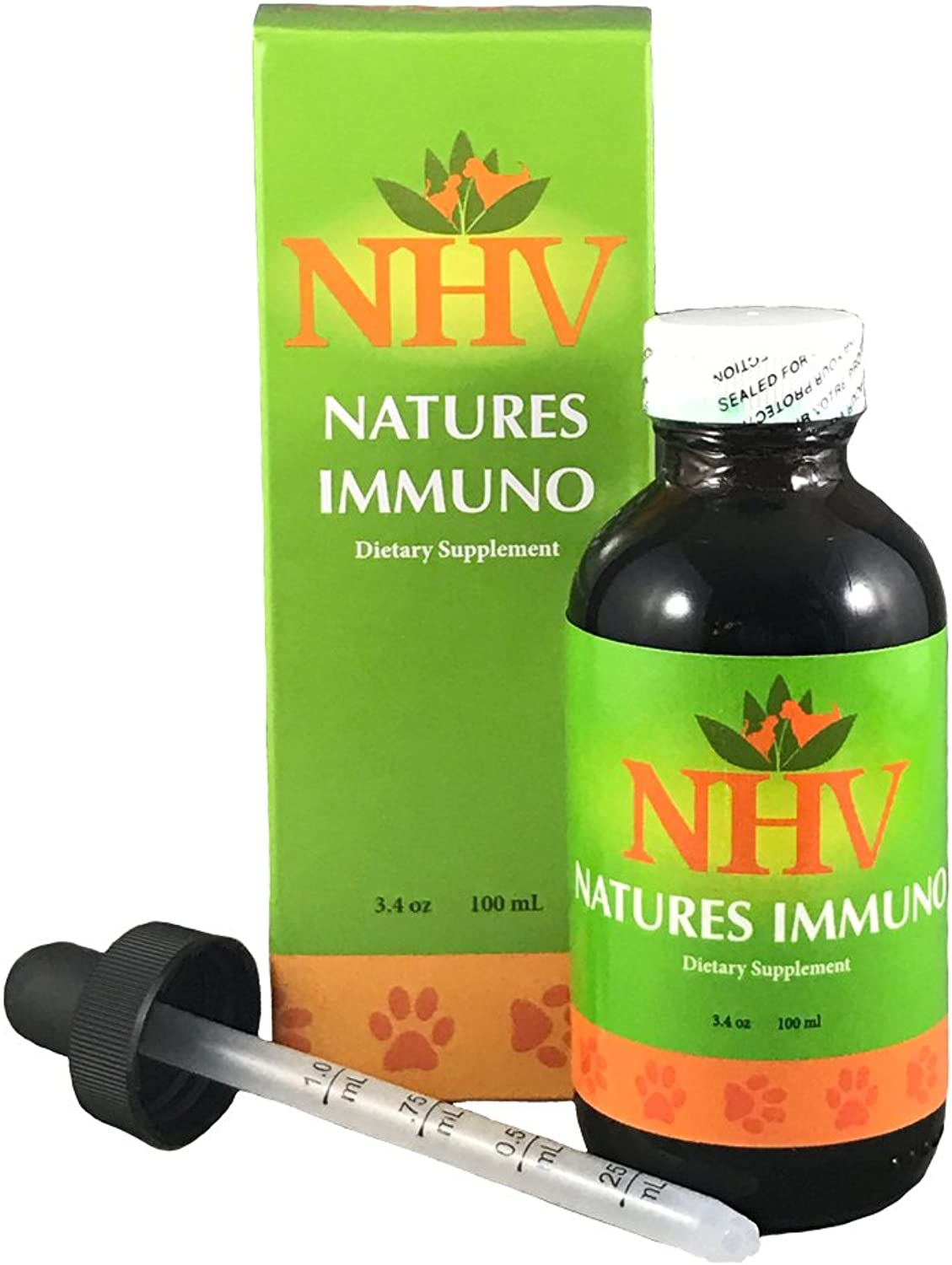 NHV Natures Immuno   Natural Medicinal Mushroom Supplements for Dogs, Cats & Small Pets, Boost Immune System for Cat, Dog & Small Pet, Support Heart Health