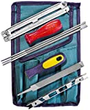 Chainsaw Sharpener File Kit – Includes Flat, 3/16, 7/32, 5/32 Inch Files, Depth Gauge Tool, File Guide, Filing Wood & Plastic Handle & Tool Pouch – For Sharpening Chainsaws Blades - 9 Piece Set