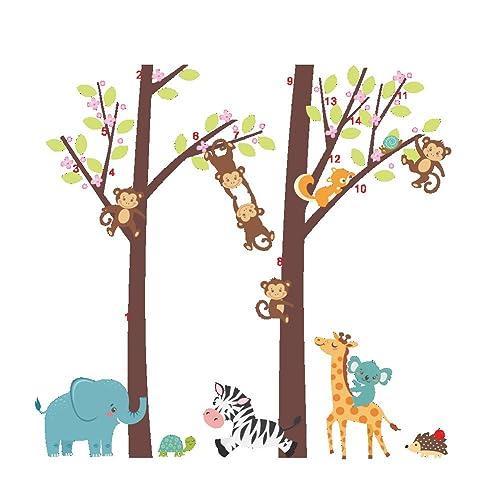 Wall Stickers Home Decor Cute Monkey Animal Wall Stickers Pop Baby Kids Bedroom Jungle Zoo Tree Print Kids Nursery Room Decals New Terrific Value