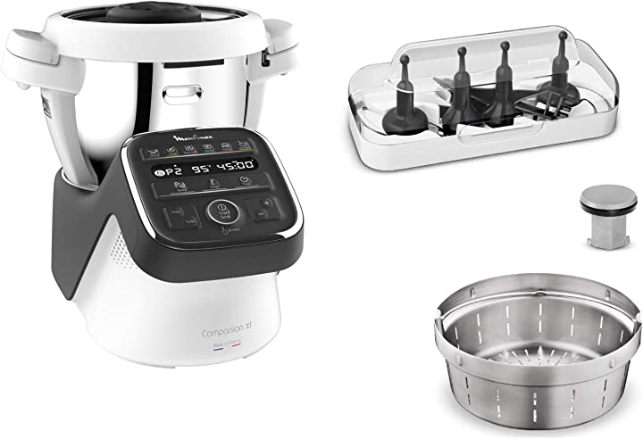 Robot da cucina moulinex , modello: companion, misura: xl companion xl, nero grigio ardesia HF80C800