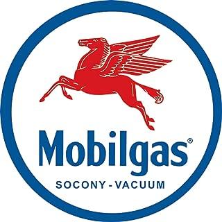 Desperate Enterprises Mobilgas Pegasas Round Tin Sign, 11.75