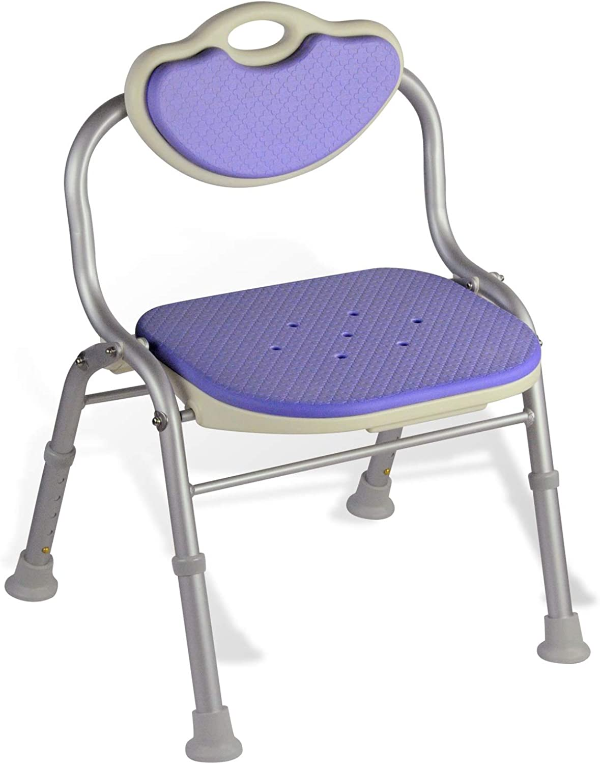 Folding Bath Seat Shower Bench Chair with Back for Old Men Pregnant Woman (color   Purple)