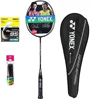 YONEX 尤尼克斯 纳米系列经典羽毛球拍 NS-9900 红色 已穿BG95线24磅