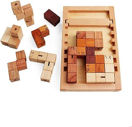 LIUFS-SPIELZEUG Bausteine   gogische Spielwaren Tetris Aus Holz Montierten Intellektuellen Geschenken Für Kinder (Farbe   Wooden)