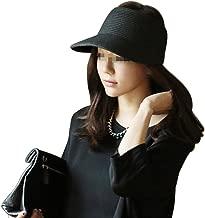 Eforstore Women Girls Foldable Topless Visor Sun Hat Wide Brim Straw Outdoor Baseball Golf Cap