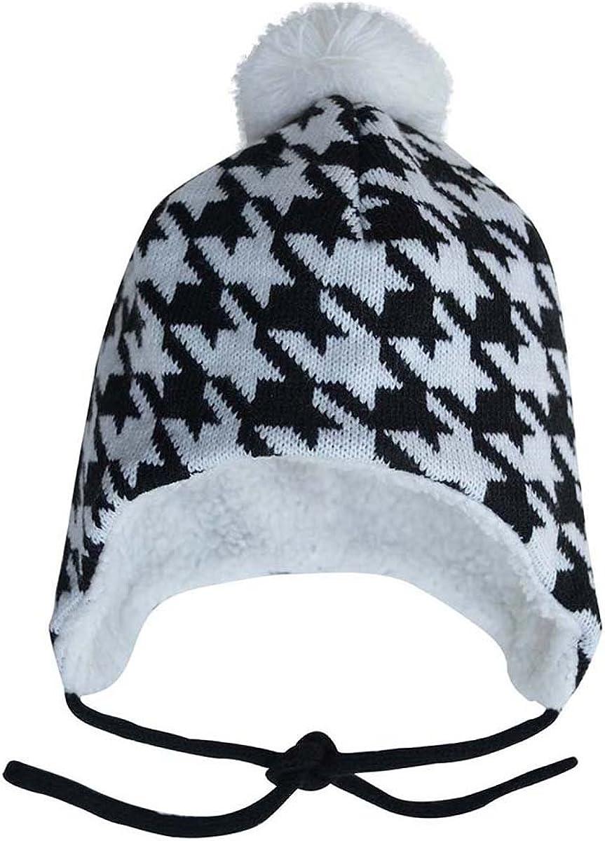 JAN New Bargain mail order JUL Fleece Lined Knit Winter Baby Hats wi Kids Toddler for