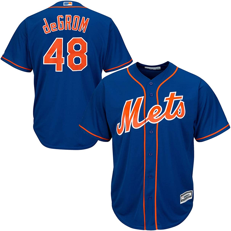 Men's #48_Jacob_deGrom_New_York_Mets_Royal Alternate Cool Base Player Jersey