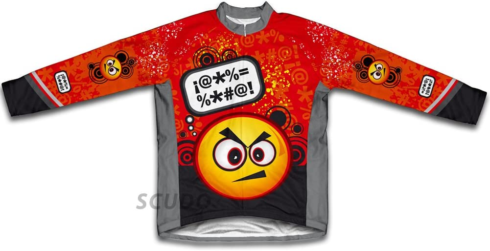 Year-end annual account ScudoPro Angry Thinker Winter Thermal Arlington Mall for Men Cycling Jersey