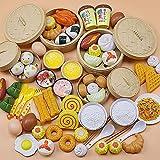 WLDOCA Spielen Sie Lebensmittel Set, 88 PiecePlay Lebensmittel für Kinder Küche - Toy Lebensmittel-Sortiment - Pretend Lebensmittel für Kleinkind, Lebensmittel Spielzeug