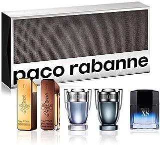 Paco Rabanne for Men 5 Piece Gift Set (5 ml 1 Million EDT + 5 ml 1 Million Prive EDT + 5 ml Invictus EDT + 5 ml Invictus Intense EDT + 5 ml Pure XS EDT)