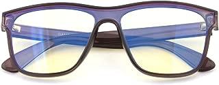 GAMEKING Mega Oversize Blue Light Blocking Computer Glasses Gaming Glasses Amber Tint Lens for Digital Eyes Strain Headache Relief Better Sleep (Translucent Black)