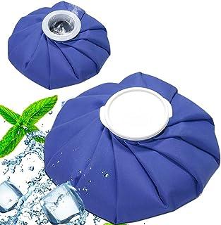 SIZIMAアイシングバッグ 2個入り 2サイズ 結露なし 水漏れ防止 大口径 アイスバッグ 繰り返し利用 ケガ 熱中症 スポーツ用 頭痛 歯痛 発熱 肩痛 関節痛 温冷両用 家庭用 屋外での使用 応急処置