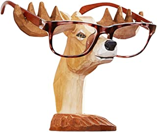 Hand-Carved Wooden Animal Eyeglass Holder Display Stand Sunglasses Holder