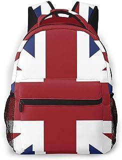 Backpack Travel British Flag School Bookbags Shoulder Laptop Daypack College Bag For Womens Mens Boys Girls