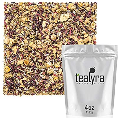 Tealyra - Night Time Detox - Lavender - Chamomile - Hibiscus - Licorice - Wellness Herbal Loose Leaf Tea - Digestive - Relaxing - Caffeine Free - All Natural - 112g (4-ounce) by Tealyra
