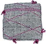 Berber Kilim Puf hecho a mano – 100% lana y algodón – Otomano, reposapiés, cojín de piso, puf marroquí, lana, Gris, 72x72x25 cm