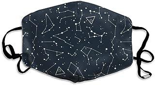 宇宙の宇宙の星座 マスク繊維通気性アウトドアファッション調節可能再利用可能ユニセックス