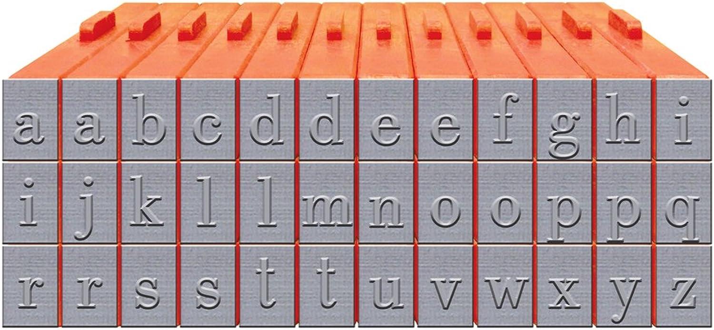 tienda en linea Mason Fila Juego de de de Letras minúsculas xl-58007pulsable Bodoni Letra Stamp Set  para mayoristas
