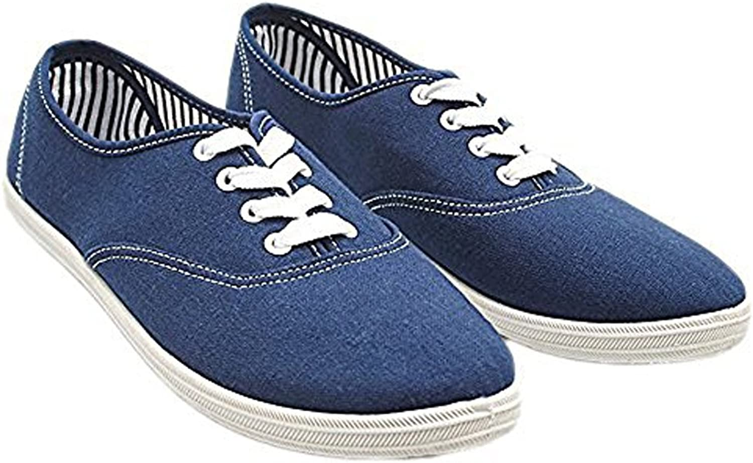 Charles Albert Women's Canvas Lace up Sneakers shoes