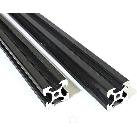 3DPrintronics 2020 V Slot Aluminum Extrusion Profile, Black (4 x 1m pcs)