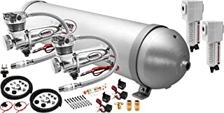Vixen Air Suspension Kit for Truck/Car Bag/Air Ride/Spring. On Board System- Dual 200psi Compressor, 5 Gallon Aluminum Tank. for Boat Lift,Towing,Lowering,Load Leveling,Bags,Train Horn VXO4850DCF