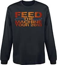 Nickelback Feed The Machine Hombre Camiseta Manga Larga Negro, Regular