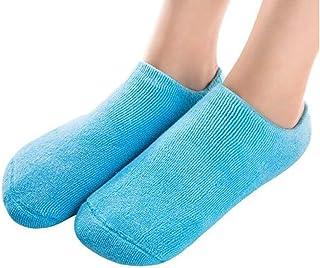 (socks, blue) - Pinkiou Spa Moisturising Gel Socks for Dry Feet Ankles Cracked Heel Repair Repair Skin Care Treatment Soft...