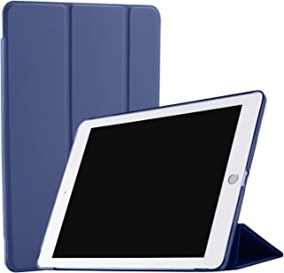 DuraSafe Cases for iPad PRO 12.9 Inch 2 Gen - 2017 [ A1670 A1671 ] Smart Cover with Transparent Back - Navy Blue (Auto Sleep/Wake)