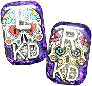 Sugar Skull Rectangle Xray Markers, Glitter, Xray Tech Gift, With 2 or 3 Initials