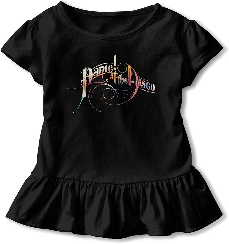 TiaKudy Panic at The Disco Baby Girls' Short Sleeve T-Shirt Toddler Tops