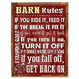 Barn Rules Stable D Eacute;COR Cowboy Ranch Horses Metall