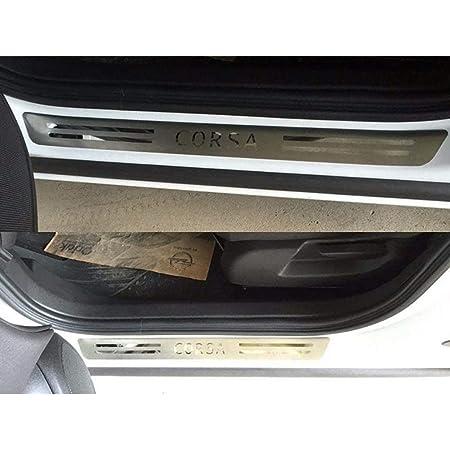 N A 2pcs Edelstahl Türschweller Abnutzungsplatte Für Opel Corsa Mk Iv 2014 2019 Einstiegsleisten Protektoren Trim Kick Plates Schutzpedal Threshold Bar Car Styling Zubehör Küche Haushalt