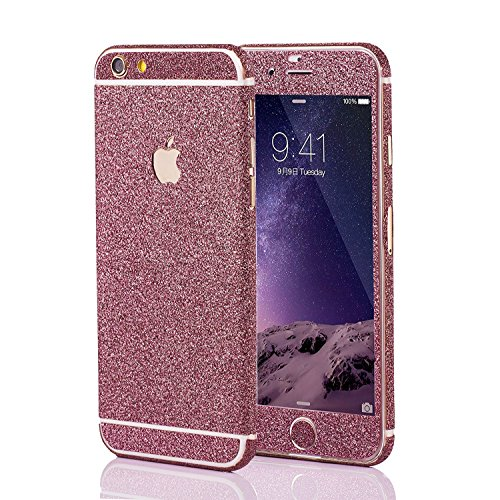 LAMINGO Glitzerfolie Glitter Skin Diamond Sticker Klebefolie für iPhone 6, 6s in Pink