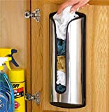 Bolsas de reciclaje genéricas e Ba Gs dispensador de acero inoxidable bolsas de transporte de plástico dispensa bolsa de almacenamiento Ho soporte de almacenamiento de acero inoxidable