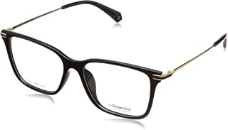 Polaroid D365-G-2M2 53 Contrast Printed Logo Square Medical Glasses Frame for Men - Gold and Black