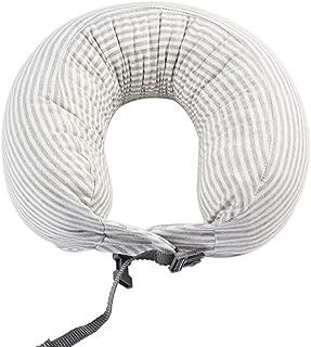 Nobildonna Travel Pillow Comfortable & Breathable Cover 100% Pure Memory Foam Neck Pillow Grey