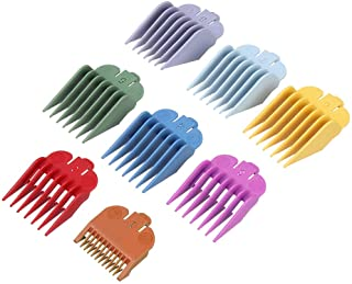 "8 Pcs Professional Colorful Hair Clipper Combs Guides Accessories, Wahl Replacement Guards Set #3171-500 – 1/8"" to 1"" Grea..."