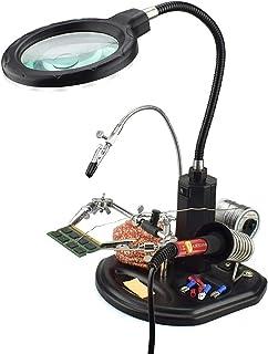 MMOBIEL Helping Hands Vergrootglasstation 2.5 X 4 met LED met Vergrootglas Statief met Klemmen