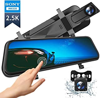 "VanTop H610 10"" 2.5K Mirror Dash Cam for Cars with Full Touch Screen, Waterproof.."