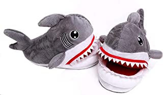 Cosnew Cotton Coral Fleece Cartoon Antiskid Animal Shark Warm Slippers