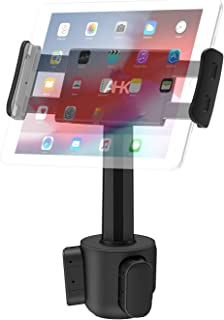 """Car Cup Holder Tablet Mount, AHK Universal Tablet & Smartphone Car Cradle Holder for iPad Pro/Air/Mini, Kindle,Tablets Nintendo Switch Smartphones, Compatible with 4.4"""" to 11"""" Devices"""