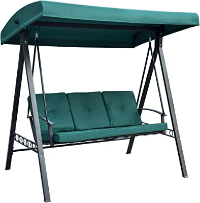 Amazon Com Outdoor Porch Swing Deck Furniture With Adjustable